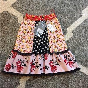 Brand new Alexander Mcqueen multicolor skirt